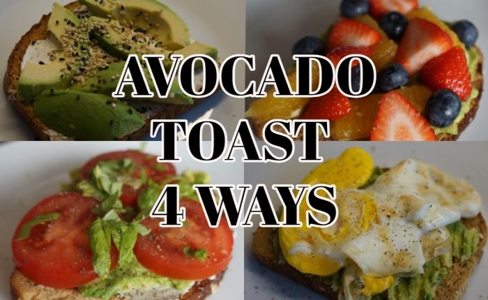 Homemade Avocado toast(4ways)